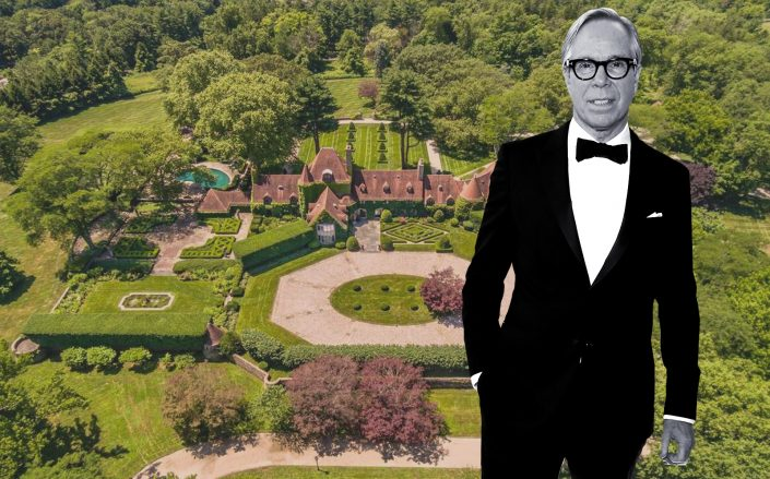 Tommy Hilfiger and his recently sold estate in Greenwich, CT. (Getty, Janet Milligan)