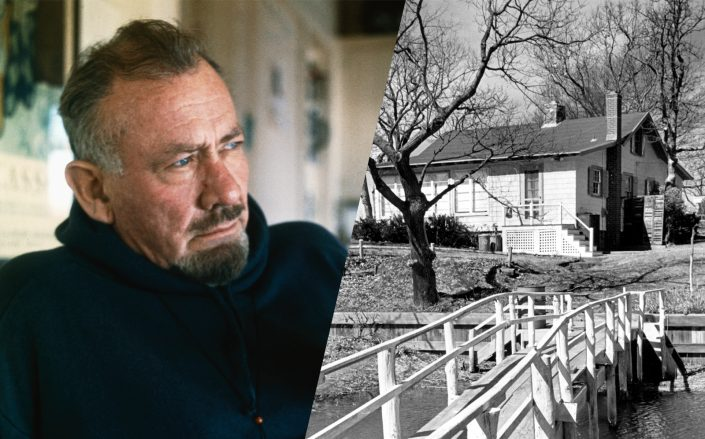 John Steinbeck and his Sag Harbor cottage (Getty)