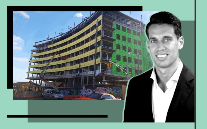 Progress Capital partner Brad Domenico and the development at 136 Summit Avenue (Photos via Progress Capital)