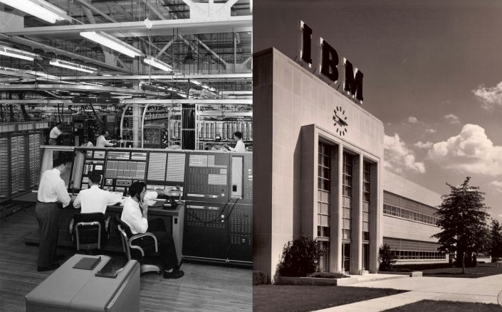 images from the old IBM campus (Kingston — The IBM Years via Facebook.)