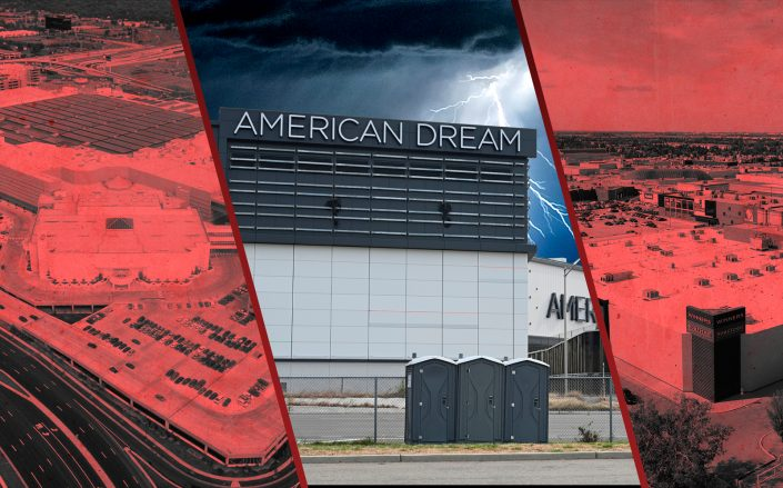 The American Dream mall (middle) with the Mall of America in Minnesota (left) and the West Edmonton Mall in Canada (right) (Getty, iStock)