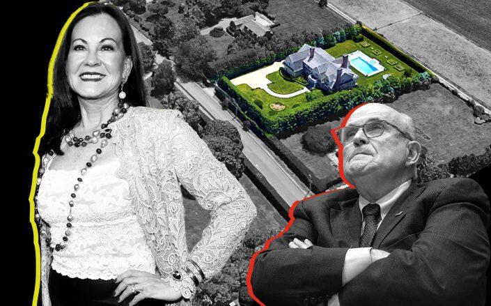 Judith Nathan, Rudy Giuliani and 353 Lopers Path in Water Mill (Getty, Google Maps)