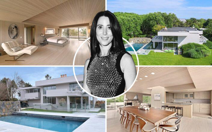 Stacey Bronfman and her Norman Jaffe house. (Getty, Douglas Elliman)