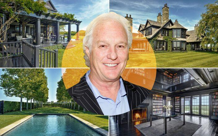 Chris Burch and the 6.9 acre property (Getty, Out East)