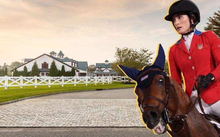 Jessica Springsteen and 6 West Pond Drive (Getty, Douglas Elliman)