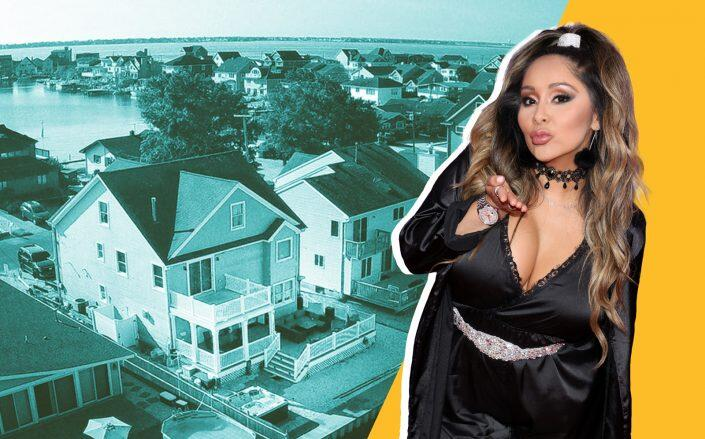 """Nicole """"Snooki"""" Polizzi and her New Jersey beach house (Getty, Monmouth Ocean Regional Realtors/Realtor)"""