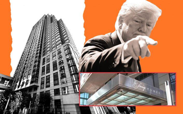 10 City Place in White Plains and Donald Trump (Getty, Google Maps)