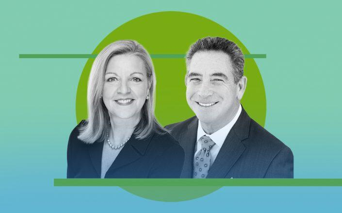 HomeServices' Candace Adams and HomeServices Hudson Valley Properties' Steven Domber (BHHS)