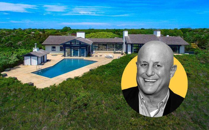 Ron Perelman with the Lily Pond Lane estate (Getty, Sotheby's)