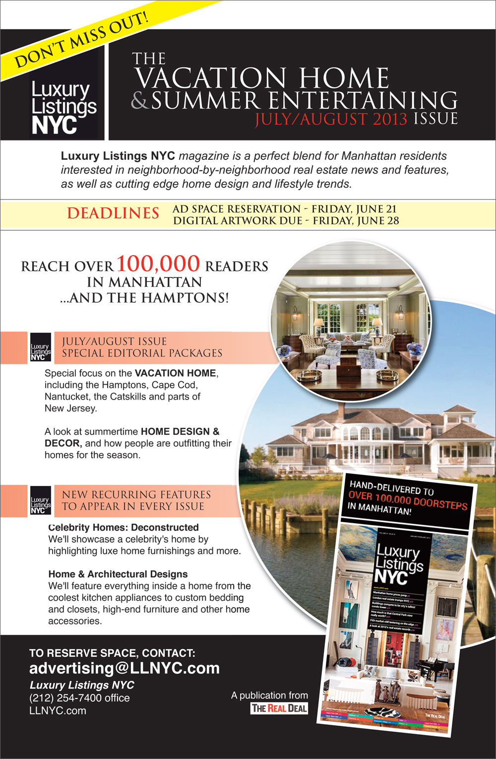 LLNYC July August 2013  sc 1 st  The Real Deal & The Real Deal | Donu0027t miss Luxury Listings NYCu0027s July/August issue