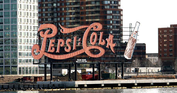 The Pepsi-Cola sign in Long Island City