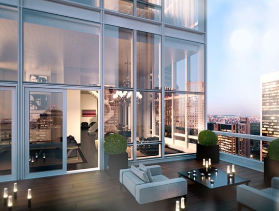 A penthouse at the Baccarat