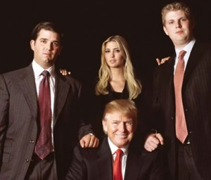 From left: Donald Trump Jr., Donald Trump, Ivanka Trump and Eric Trump
