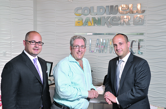 Anthony DeGrotta, president of Coldwell Banker  AC Lawrence; Neil Binder, president of Coldwell Banker  the Bellmarc Group; and Larry Friedman, president  of Coldwell Banker Bellmarc.