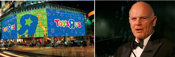 The Toys 'R' Us store in Times Square and Steven Roth