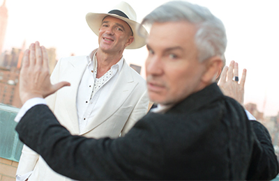 From left: Alan Faena and Baz Luhrmann