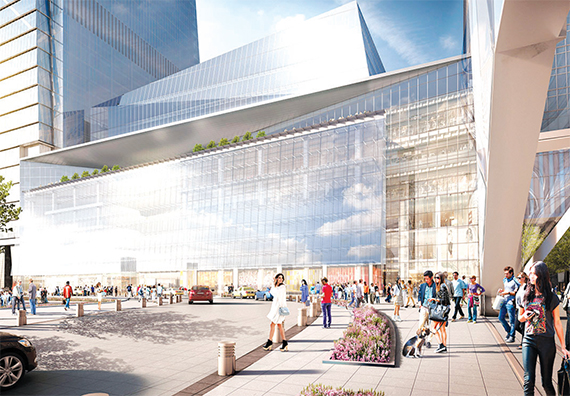 Hudson Yards will feature retail space for shops and a variety of restaurants along 10th Avenue