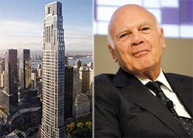 A rendering of 220 Central Park South and Vornado's Steven Ross