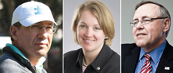 From left: Jack Lusk, Michelle Adams and Steven Spinola
