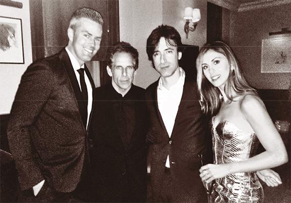 At the Toronto Film Festival, from left: Ryan Serhant, Ben Stiller, fi lmmaker Noah Baumbach and Serhant's fiance, Emilia Bechrakis