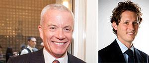From left: Cushman's Edward Forst and Exor's John Elkann