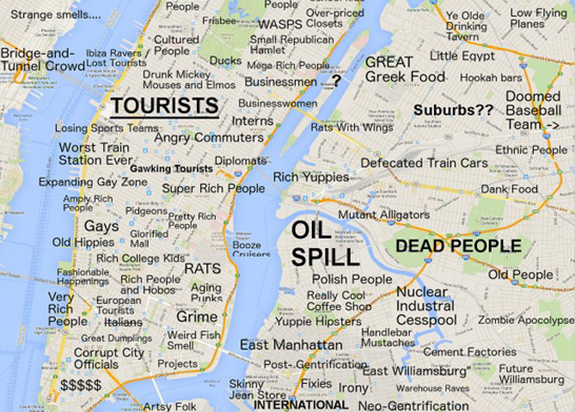 Funny Map Nyc Judgmental Map Nyc