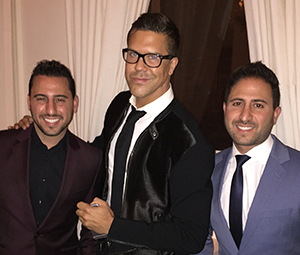 From left: Josh Altman, Fredrik Eklund and Matt Altman (Credit: Douglas Elliman)
