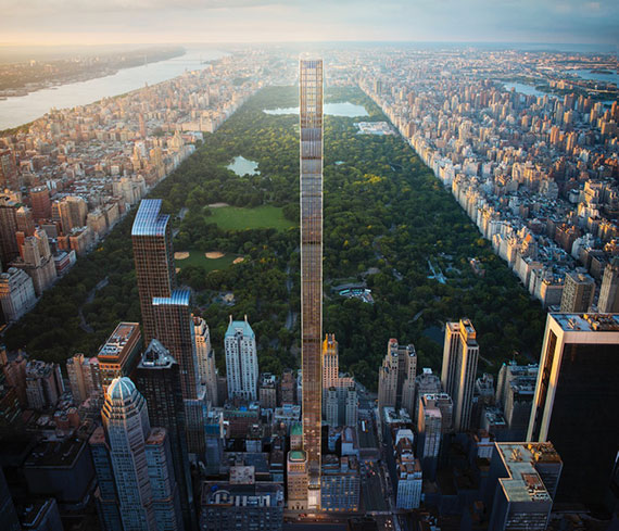 A rendering of 111 West 57th Street (Credit: Hayes Davidson)