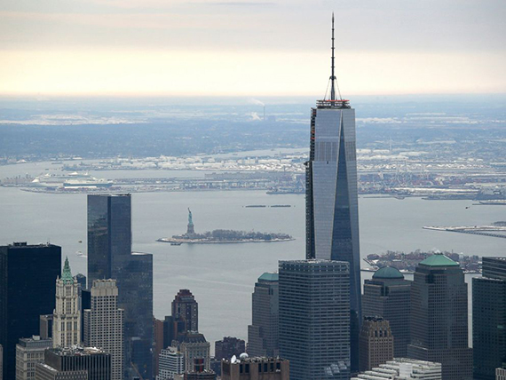 One World Trade Center in Lower Manhattan