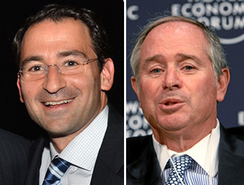 From left: Blackstone's head of real estate Jon Gray and Blackstone CEO Steve Schwarzman