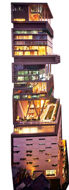 Antilia in Mumbai India