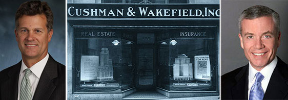 From left: Brett White, an old Cushman & Wakefield office in New York and Cushman's Edward Forst