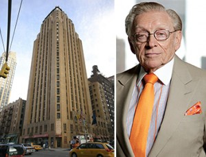 From left: the Beekman Tower at 3 Mitchell Place in Midtown East and Larry Silverstein