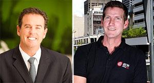 From left: Auction.com CEO Jeffrey Frieden and Juwai.com CEO Simon Henry