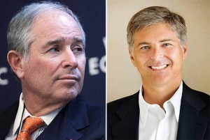From left: Stephen Schwarzman and Christopher Nassetta