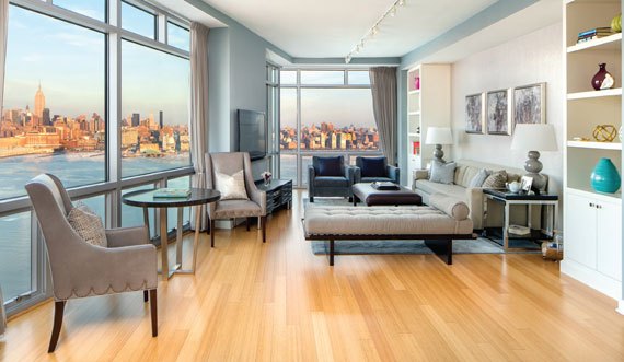 At $3.2 million, this three-bedroom condo at the W Hotel and Residences is Hoboken's most expensive listing.