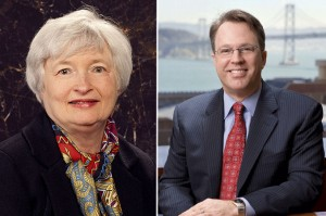 From left: Janet Yellen and John Williams
