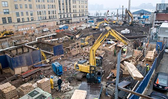 Construction near the High Line in Manhattan