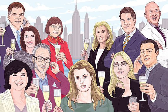 From left to right: (Top row) John Burger, Alexa Lambert, Paula Del Nunzio, Deborah Grubman, Fredrik Eklund and John Gomes (Bottom row) Carrie Chiang, Leonard Steinberg, Serena Boardman, Dolly Lenz and Raphael De Niro