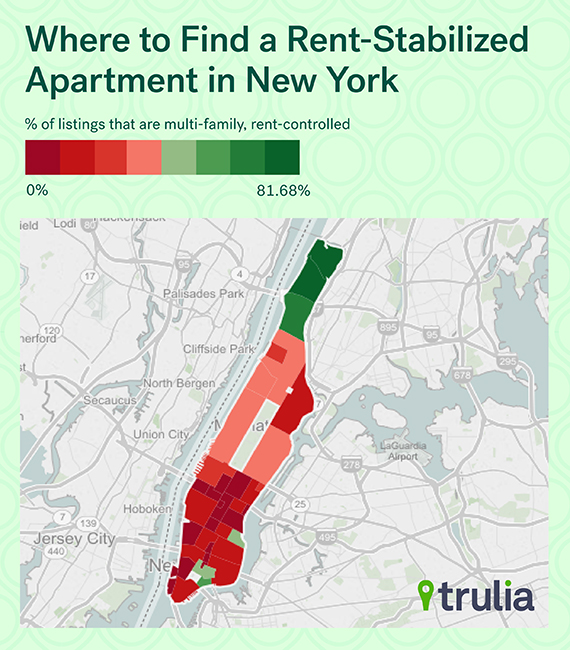 Apartment Rent Map: Washington Heights