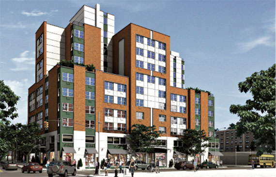 Joy Construction's 64-unit affordable housing development at 1016 Washington Avenue.