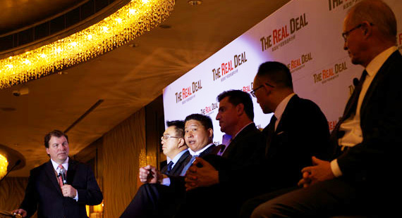 "The ""U.S. Real Estate Market Overview"" panel, with Jonathan Miller, Greg Peng, Mark Chu, Sean Mei and Stephen Owens"