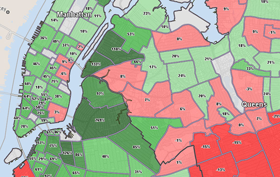 New York Price Per Square Foot 2004 to 2014