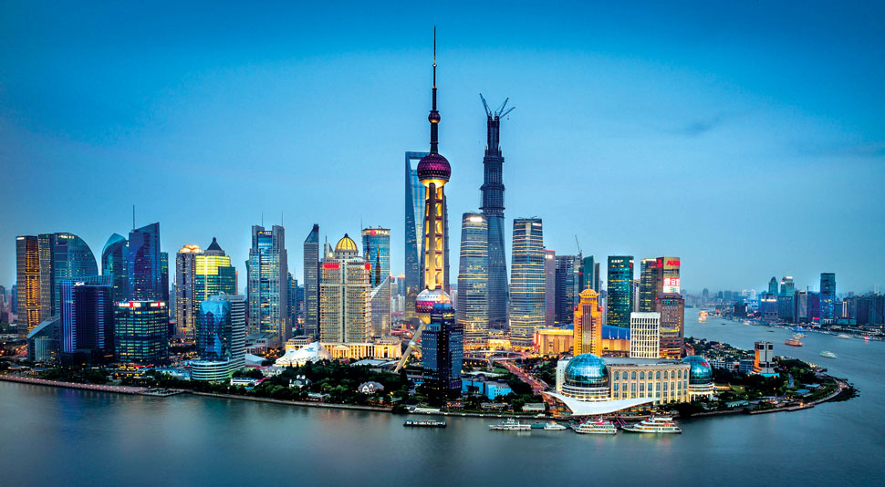 A view of Shanghai, where The Real Deal is hosting its U.S. Real Estate Showcase and Forum at the Jing An Shangri-La Hotel this month.