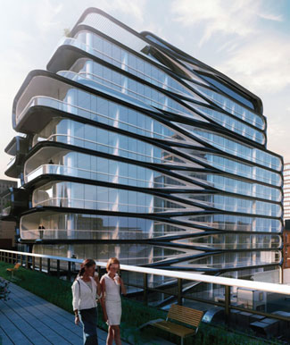 Related's Zaha Hadid-designed 520 West 28th, which CORE and Corcoran Sunshine brokers are working on.