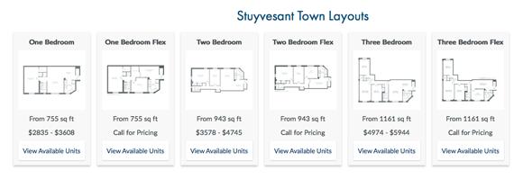 Stuyvesant Town rentals Flex apartments – Stuy Town 2 Bedroom Floor Plan