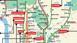 Bronx Subway Map