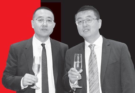"""Kuafu founders Shang Dai, left, and Zengliang """"Denis"""" Shan"""