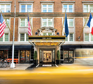 The Mark Hotel on Madison Avenue boasts the most expensive suite in NYC at $75,000 a night.