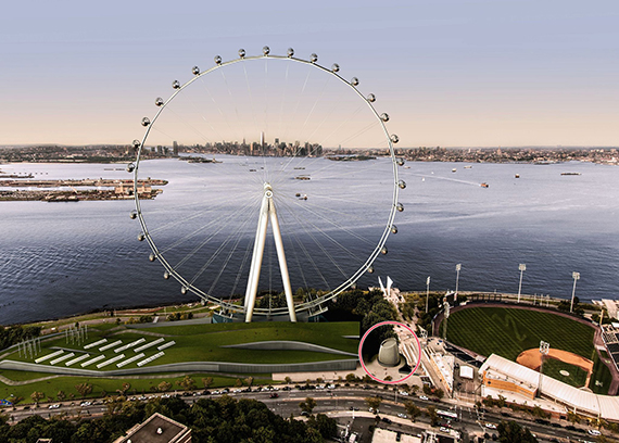 A rendering of the New York Wheel